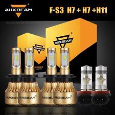 6PCS Auxbeam H7+H7+H11 H8 CSP LED Headlight High Low Beam Fog Bulbs Combo Lamps