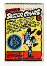 Anglo-American Gum Bell Boy wax wrapper Famous Soccer Clubs #53 Chelsea