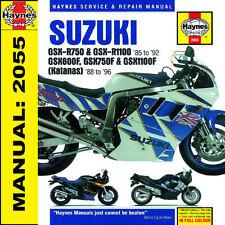 Suzuki GSXR750 GSXR1100 GSX600-1100 1985-1996 Haynes Manual 2055 NEW