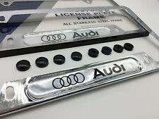 Premium Chrome License Plate Frame for AUDI A3 A4 A5 A6 A7 A8 Q3 Q5 Q7 TT R8 S5