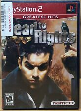 Dead to Rights (Playstation 2, ps2, 2002, Namco) *Complete M