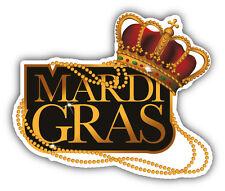 Mardi Gras Golden Label Car Bumper Sticker Decal 5'' x 4''