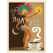 Cafe Do Brazil Coffee Decal 26 x 34 Peel and Stick Kitchen Decor