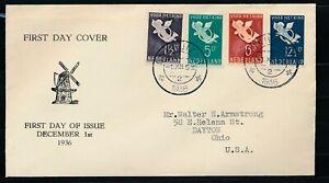 NRS. 289/292 OP SLUIS FDC, GETYPT ADRES ENKHUIZEN 1.XII.1936 - OHIO USA, ZL809