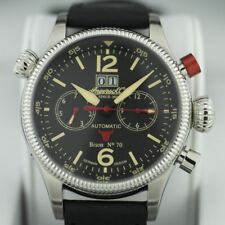 Limited Edition Bison No.70 Ingersoll Automatic watch day week month leather str