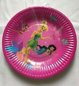 Tinker Bell Birthday Children Party Plates Tableware 10 Pcs