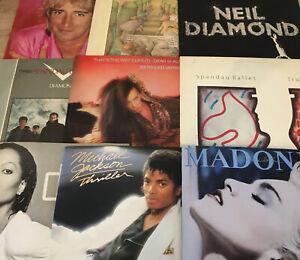 Job Lot Bundle RECORD VINYL LP COLLECTION 1970's 1980's POP Rock 30 Albums Lot 1
