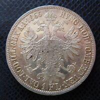 AUSTRIA / SILVER 1 FLORIN / 1866 A / Extra!
