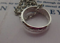 New Lord Of The Rings Hobbit Ring Pendant Necklace Silver