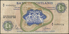Schottland / Scotland Bank of Scotland 1 Pound 1969 Pick 109b (3+)