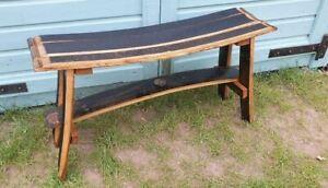 Handmade Jim Beam Stave Bench