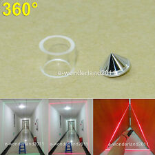 360 Degree Laser Reflecting Cone Lens For Laser Line Circle / Laser Level Use