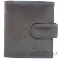 Mens Leather Bi-Fold Credit Card / Money / Coin Wallet