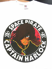Xxl Space Pirate Captain Harlock Size T-Shirt Skull & Crossbones Anime