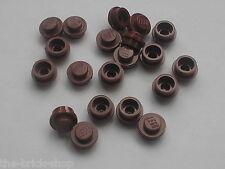 Lot de 20 LEGO RedBrown NEW Plates Round ref 4073 /Set 10193 4957 5525 10144 ...