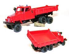 H0 IFA Lkw G 5 Feuerwehr Seitenkipper Kipperfahrzeug Blaulicht Suchscheinwerfer