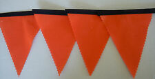Holland Orange with Black tape Football Bunting Party Decoration  Gift 2 mtrs