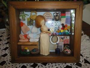 Vintage Handmade Wooden CRAFT CORNER Miniature STORE OOAK RARE