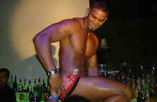 Shirtless Latin Male Beefcake Stripper Dancer On Bar Sexy PHOTO Pinup 4X6 P566