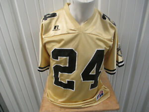 VINTAGE RUSSELL ATHLETIC PURDUE BOILERMAKERS #24 SMALL GOLD BLACK JERSEY PREOWN