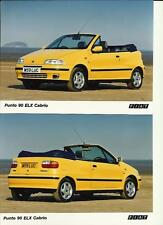 Yellow Fiat Punto 90 ELX Cabrio Photograph x 2 On the Beach Mint Condition