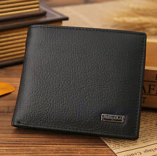 Bifold Wallet Mens Trifold Leather Black Credit Card/ID Holder Slim Purse Clutch