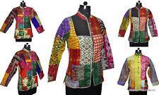 10Pc Wholesale Lot Quilted Jacket Patchwork Silk Blazer Reversible Winter Coat