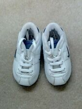 Boy's Nike Cortez white and blue trainers infant size 4