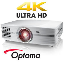 Optoma UHD60 4K HD DLP Home Theater Projector High Dynamic Range Gaming White
