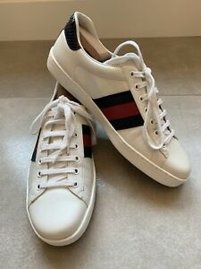 Gucci New Ace Clean Sneaker, SIZE 8 G (9 US), White, Retail $580