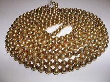 "Vintage Mercury Glass CHRISTMAS Tree GARLAND 102"" GOLD"