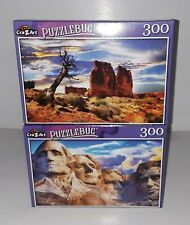 """🌟 American Landscapes Lot Of 2 - 300 Piece Puzzle 18.25"""" X 11"""" NEW"""