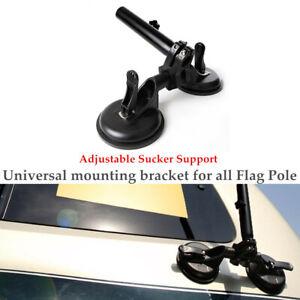 ATV Off-road Car Metal Flag Pole Car Mount Bracket Adjustable Sucker Support