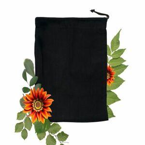 Black Poly - Cotton Bags, Reusable Produce Bags, Single Drawstring – lot