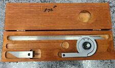 Starrett No C359 Precision Machinist Protractor 12 Blade With Wood Box Nice