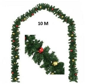 Huge Christmas Garland w Decorated Baubles Xmas Balls Extra Large Commercial 10m