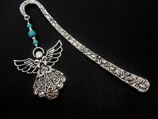 A TIBETAN SILVER ANGEL & TURQUOISE  BEAD   BOOKMARK. NEW.