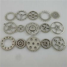 MIX Antique Vintage Silver Tone Alloy Wheel Gear Connector Pendant Making Movie