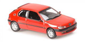 MAXICHAMPS 940112800 1:43 Peugeot 306 1998 Red Model car