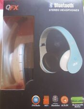 QFX Bluetooth  Stereo Headphones-BLUE NEW! Model: H-251BT Hands-free Aux In
