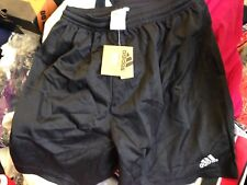 ADIDAS FOOTBALL SHORTS IN  BLACK  IN 34 INCH INCHAT £4 POLYESTER