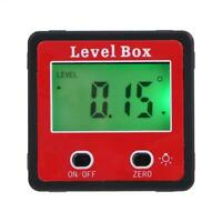 Digital Display Inclinometer Spirit Level Box Protractor Angle Finder Gauge Mete