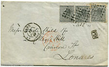 BELGIUM, COVER, ANNUL GAND, 1869, 3 STAMPS POSTES OF 10 CENT EACH              m
