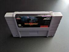 Mortal Kombat II 2 Combat Akklaim Authentic Super Nintendo FR game cartridge