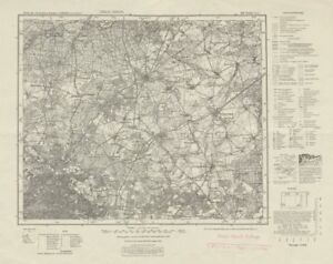 WW2 Nazi map NE Berlin Sheet 269 Berlin (Nord). Niederbarnim Oberbarnim 1944