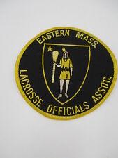 Eastern Massachusetts Lacrosse Official Association PATCH referee BLACK