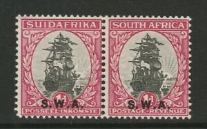 South West Africa 1930-31 1d with White patch SG 69 Mint.