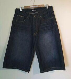 Men's ECKO unltd Denim Blue Long Shorts Size 34