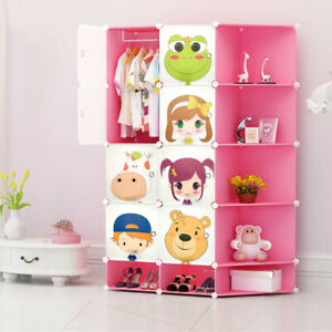 Childrens Kids Wardrobe Storage Boxes Character Design Cube Shoes Corner Storage