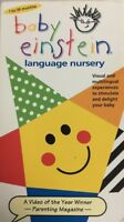 Baby Einstein:Language Nursery(VHS,2000)TESTED-RARE VINTAGE-SHIPS N 24 HOURS